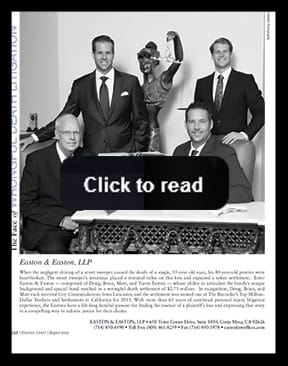 Featured in Orange Coast magazine as <br/>The Face of Wrongful Death Litigation