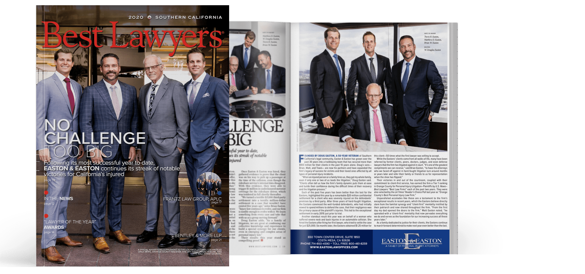Easton & Easton lawyers in Best Lawyers magazine